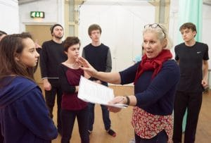 Jo directing the Oxford Playhouse 16|22 Company in The Odyssey (2015)