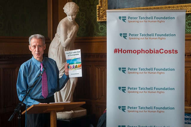 The launch of the Peter Tatchell Foundation's new report: The Economic Cost of Homophobia, at the House of Lords