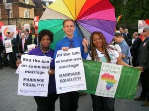 Equal marriage vigil outside the House of Lords (5 June 2013) © Peter Tatchell