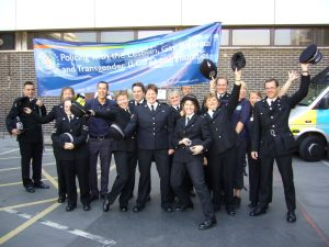 Brighton Pride 2007. Clifford Williams, a chief inspector at the time, stands far right with his cap held high.