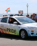 Hampshire Constabulary LAGLO car at Brighton Pride 2015 two
